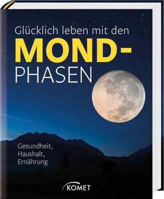 """Cover des Buches """"Glücklich leben mit den Mondphasen"""""""